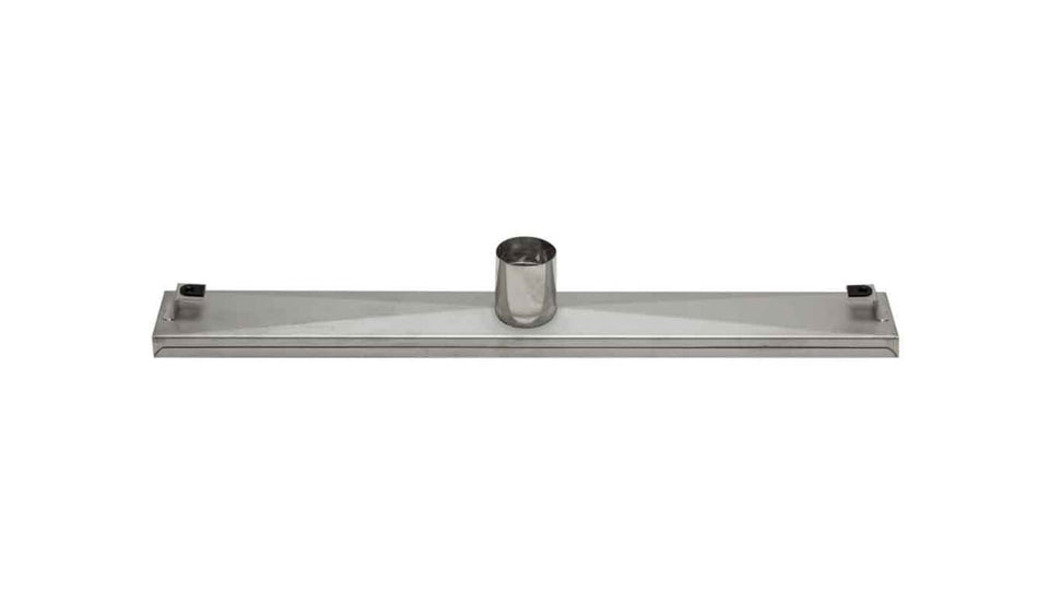 "ALFI brand ABLD24D 24"" Modern Stainless Steel Linear Shower Drain with Groove Lines, Silver"