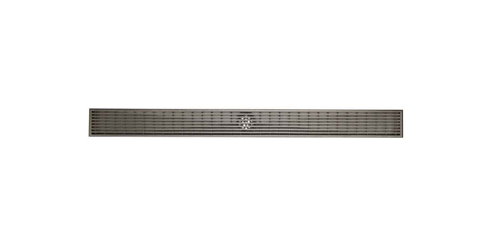 "ALFI brand ABLD32D 32"" Modern Stainless Steel Linear Shower Drain with Groove Lines, Silver"