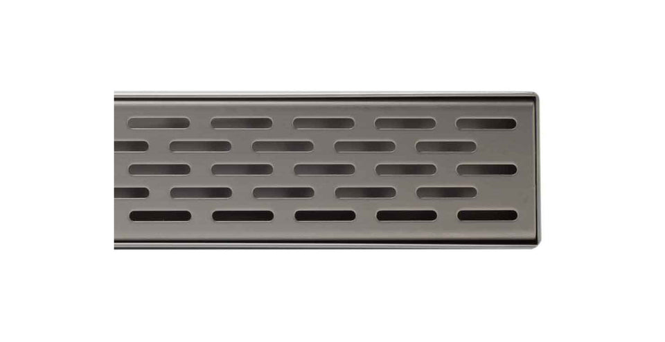 "ALFI brand ABLD36C 36"" Modern Stainless Steel Linear Shower Drain with Groove Holes, Silver"