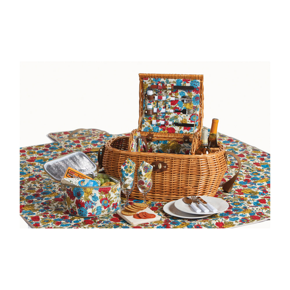Picnic Plus Waterloo 2 Person Deluxe Picnic Basket Floribunda