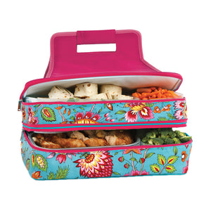 Picnic Plus Entertainer Hot & Cold Food Carrier Madeline Turquoise