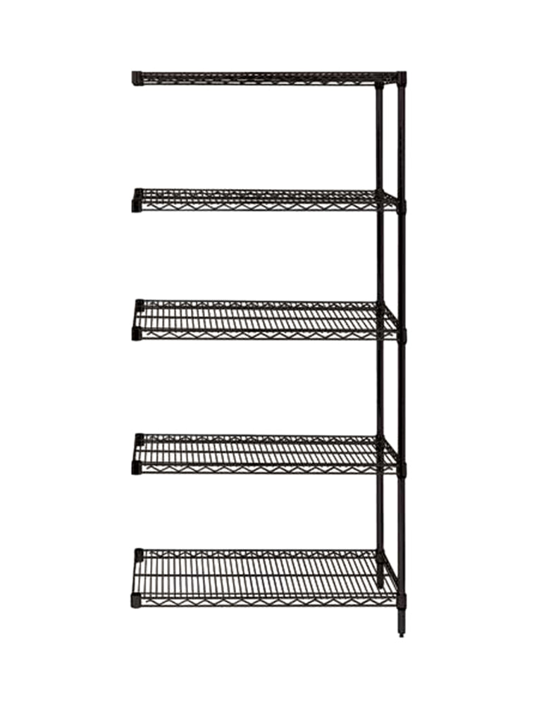 Quantum Storage System Add-On Kit for 5-Shelf Wire Shelving Unit 24