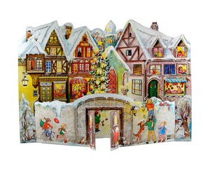 "Alexander Taron Importer ADV555 Sellmer Advent-Village with Kids-14.75"" H x 10.25"" W x .1"", Gray"