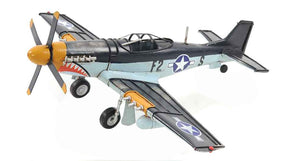Old Modern Handicrafts 1943 Mustang P51 Collectible, 1:40-Scale, Grey