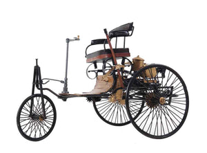Old Modern Handicrafts 1886 Benz Car Collectible, Yellow and Black