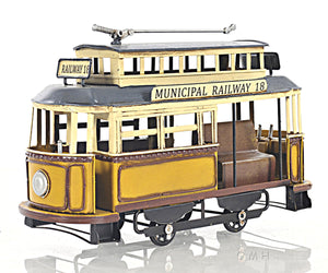 Old Modern Handicrafts Municipal Railway Cable Car, Small, Multi
