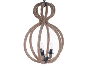 Old Modern Handicrafts Rope Pendant Lamp - 3 Bulbs