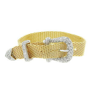 J Goodin Contemporary Fashion Style Goldtone Finish Buckle Bracelet For Women