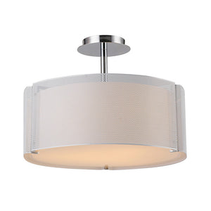 Bromi Design B3901 Lynch Iron Mesh White Drum Pendant