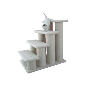 Armarkart 25-Inch Wooden Four Step Cat Tower Tree Condo Scratcher Kitten House In Sky Blue