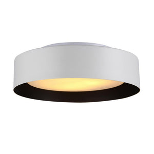 Bromi Design B4106B Lynch White & Black Flush Mount Ceiling Light, White and Black