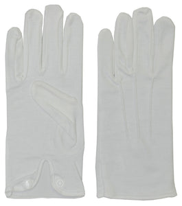 Morris Costumes Halloween Adult Cotton Gloves with Snap White
