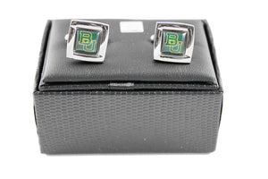 NCAA Baylor Bears Square Cufflinks with Square Shape Logo Design Gift Box Set
