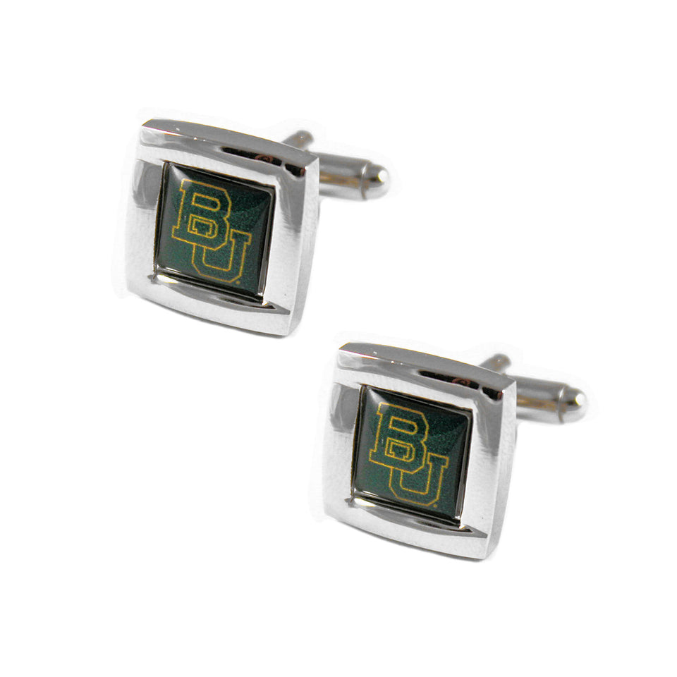 Baylor Bears NCAA Square Cufflinks with Square Shape Logo Design Gift Box Set