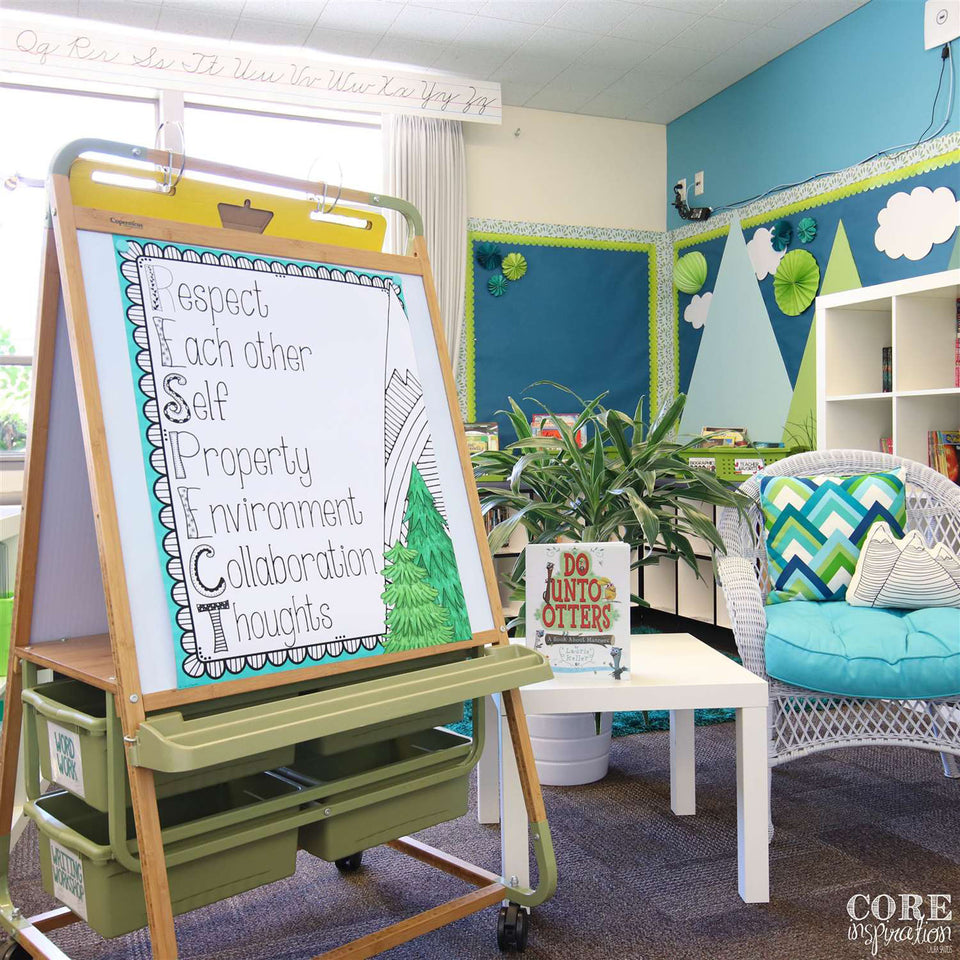 Copernicus Kids Home Students School Classroom Double Sided Bamboo Teaching Easel