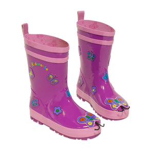 Kidorable Butterfly Rain Boots, Size 5(My 1St)
