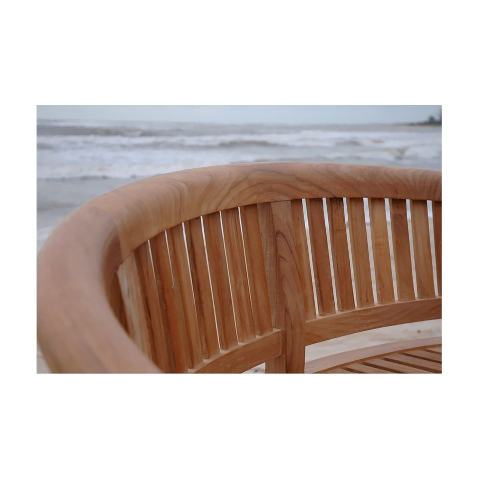 Anderson Teak Patio Lawn Garden Furniture Curve 3 Seater Bench Extra Thick Wood
