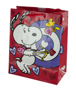 Snoopy Bullseye Valentine's Gift Bag - Pack of 36