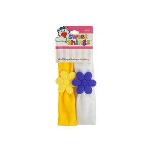 Koleimports Soft Daisy Head Wraps 24 Pack