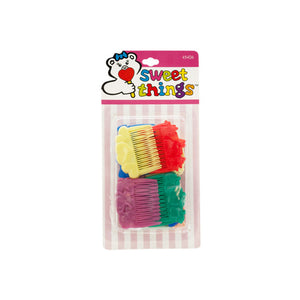 Koleimports Various Design Colorful Side Combs 24 Pack