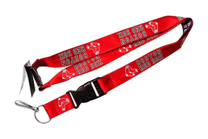 Boston Red Sox Reversible Clip Lanyard Keychain Id Ticket Holder