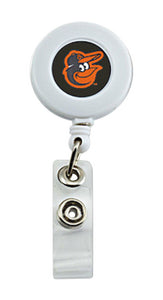 Baltimore Orioles Sports Team Logo Retractable Badge reel White