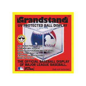 "BallQube UV Protected Baseball Display Case/Holder ""Grand Stand"""