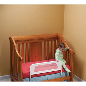 Kidco Convertible Crib Telescopic Design Mesh Bed Rail - White