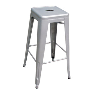 AmeriHome 4 Piece 30 Inch Metal Bar Stool Set - Silver