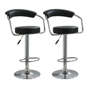 AmeriHome BS1060BSET Adjustable Height Bar Stool- Set of 2