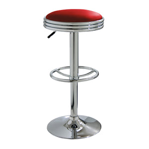 AmeriHome Soda Fountain Style Bar Stool - Red