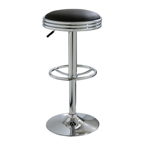 Amerihome BS1208 Soda Fountain Bar Stool, Black
