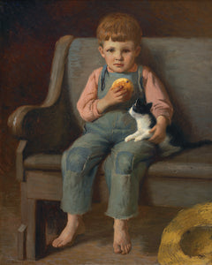 Boy With a Bun by James T. Harwood -  12 X 15 (Canvas Print-Unframed)