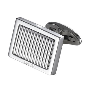 Caseti Thomas Lined Stainless Steel Cufflinks