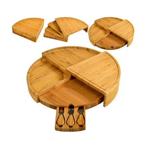 Vienna Transforming Bamboo Cheese Board Set with 3 Tools