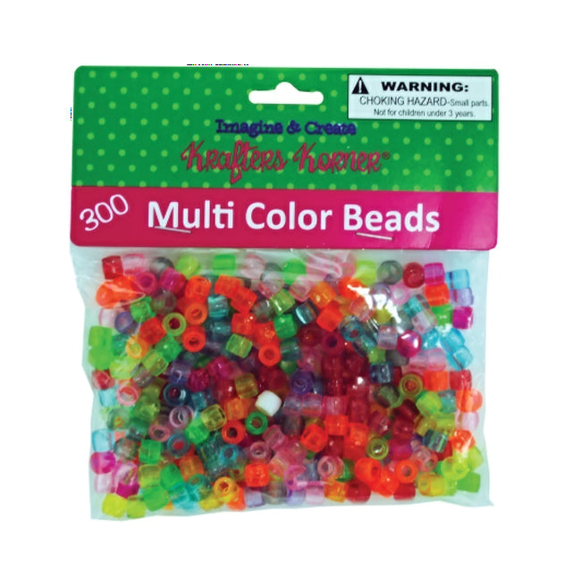 Multi-Color Crafting Pony Beads - Pack of 24