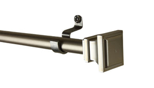 "Frame 7/16"" Cafe Curtain Rod - Satin Nickel"