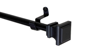 "Frame 7/16"" Cafe Curtain Rod - Black"