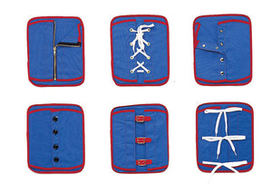 Children's Factory Manual Dexterity Learning Boards - Set of 6 Classroom Furniture (CF361-310), Blue/Red