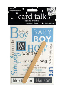 Baby Boy Rub-On Transfers - Pack of 24