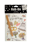 Bulk Buys Wedding Rub-On Transfers Pack Of 24