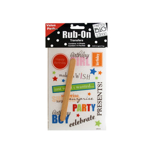 Bulk Buys Party Décor Sayings Value Pack Rub-On Transfers Pack Of 24
