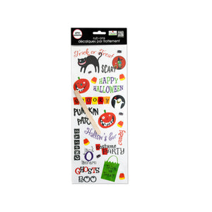 Halloween Glitter Rub-On Transfers - Pack of 24