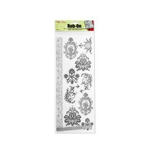 Silver Flourish Rub-On Transfers - Pack of 24
