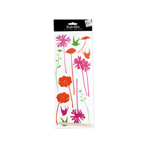 Bulk Buys Party Décor Fresh Bloom Rub-On Transfers Pack Of 24