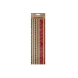 Bulk Buys Reds Decorative Fabric Borders Stickers - Pack Of 30