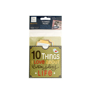 10 Things I Love About Everyday Life Journaling Pocket - Pack of 24