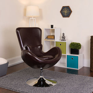 Flash Furniture Egg Series LeatherSoft Side Reception Chair