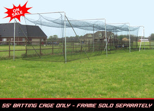 "Cimarron 55"" x 14"" x 12"" - #84 4MM Twisted Poly Batting Cage Net Only"