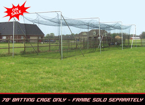 "Cimarron 70"" x 14"" x 12"" - #84 4MM Twisted Poly Batting Cage Net Only"